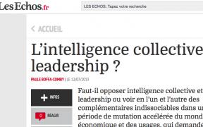 chronique sur le cercle des echos - l'intelligence collective, un nouveau leadership