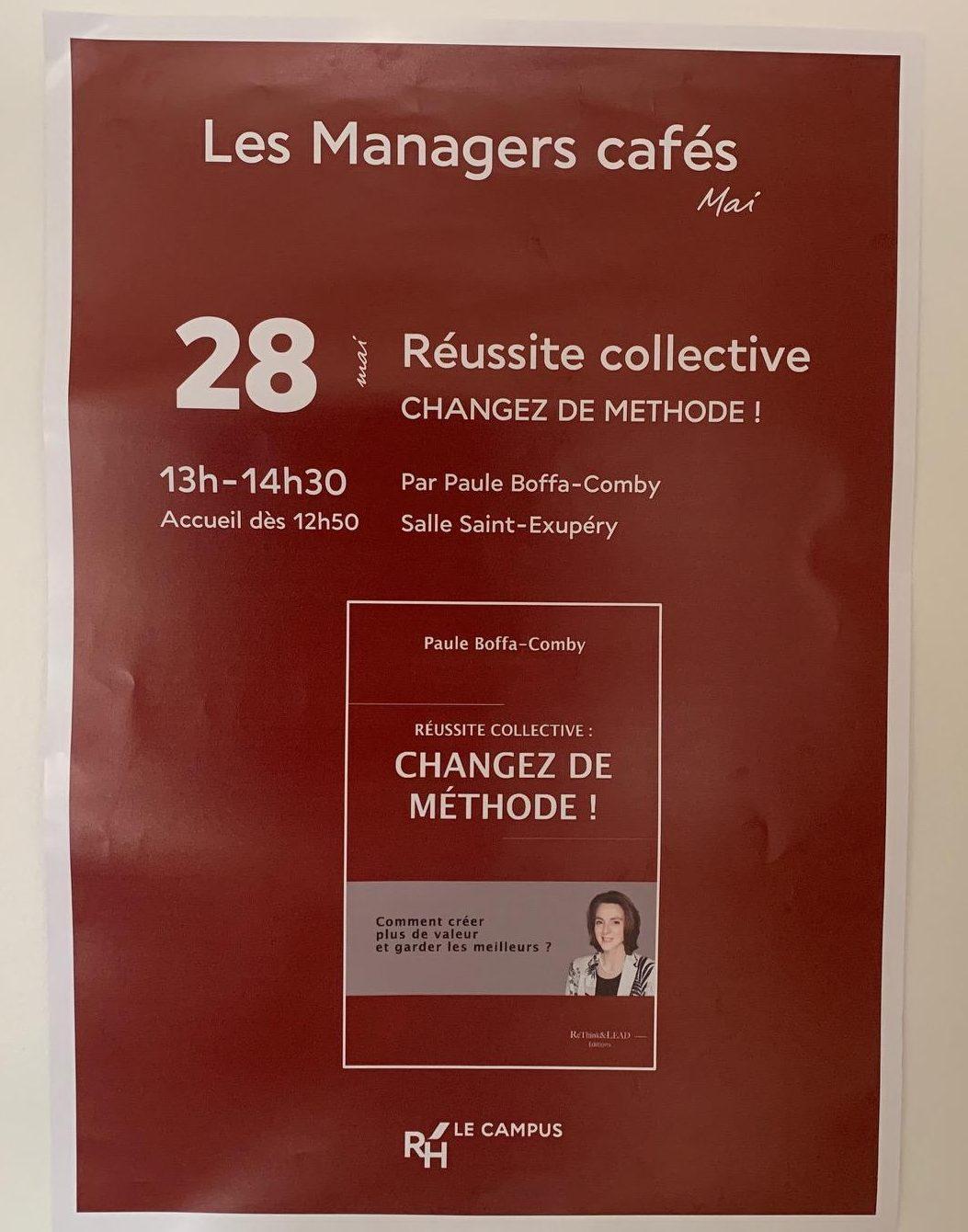 """Intervention de Paule Boffa-Comby, présidente de ReThink & LEAD, au concept """"Les Managers cafés"""" chez Air France, pour parler de son livre """"Réussite Collective - Changez de Méthode !"""""""