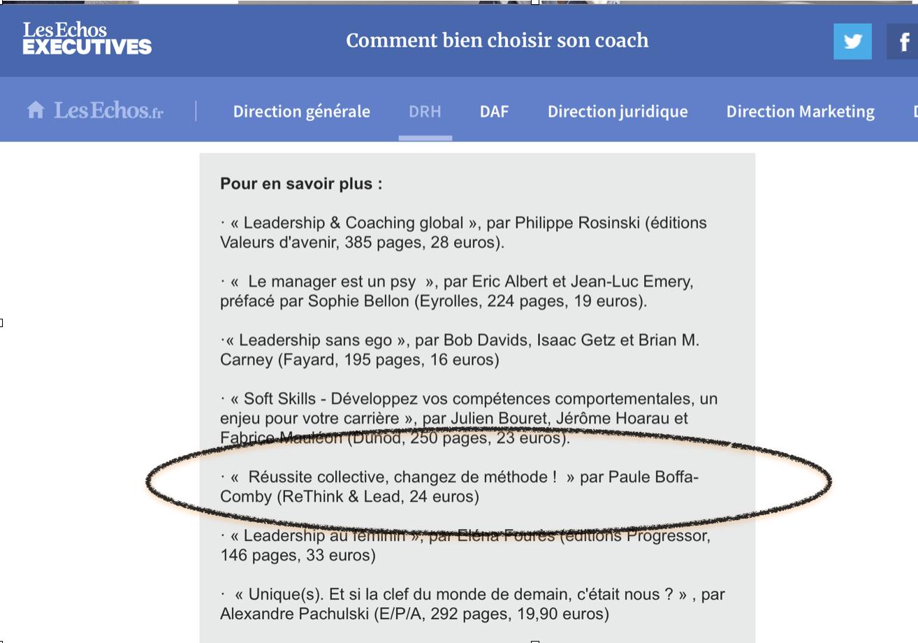 Comment bien choisir son coach - 7 livres de référence - Les Echos Executives
