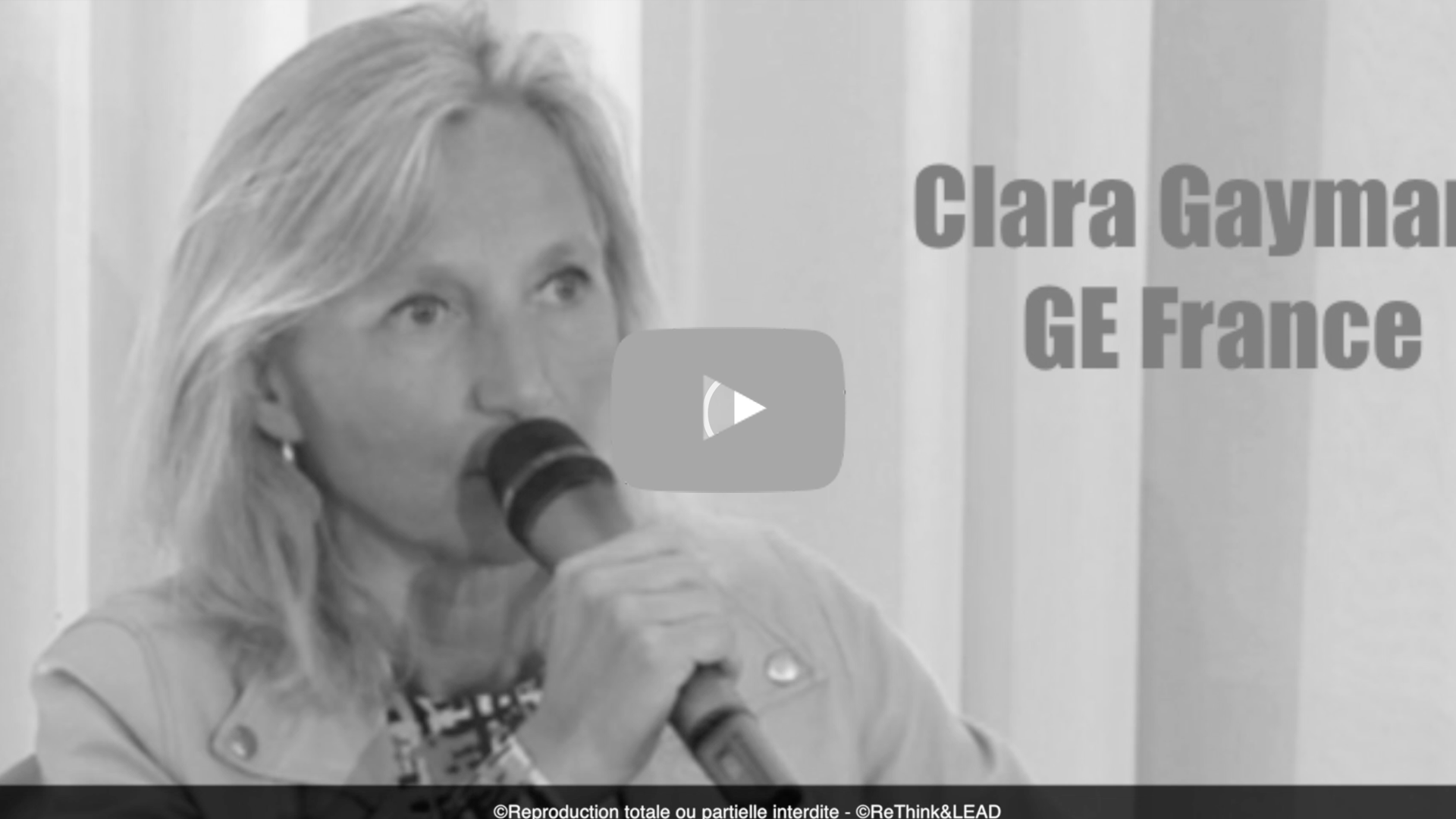 Forum ReThink & LEAD - Intervention de Clara Gaymard